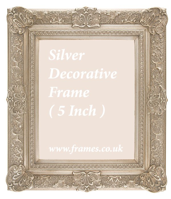Ready Made Silver Decorative Frame 5in S From 163 45 79
