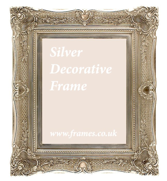 Ready Made Frames : Ready made silver decorative frames from £ at