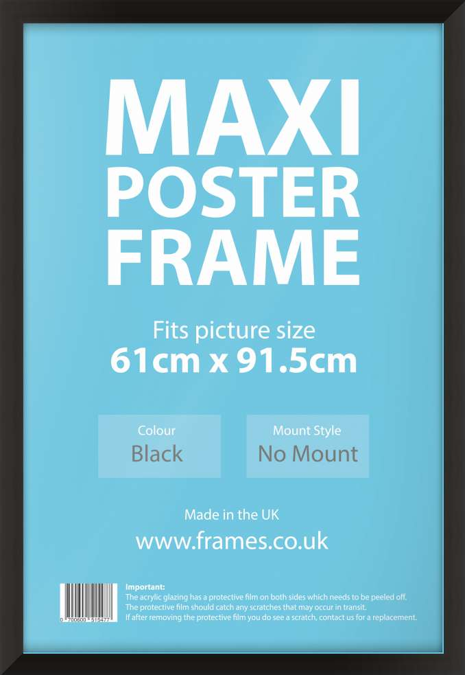 ready made black maxi poster frames from 1631799