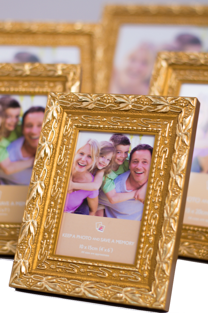 Ready Made Frames : Ready made sunkissed gold picture frames from £