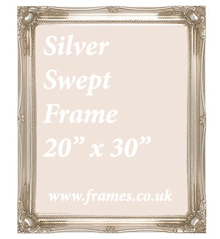 Ready Made Silver Swept Frame 20 X 30s From 4217